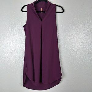 Lucy Burgundy Sleeveless Dress. Small